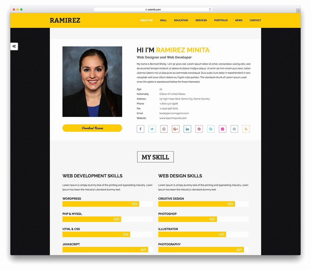 Free Portfolio Website Templates Luxury 27 Free Personal Website Templates to Boost Your Brand