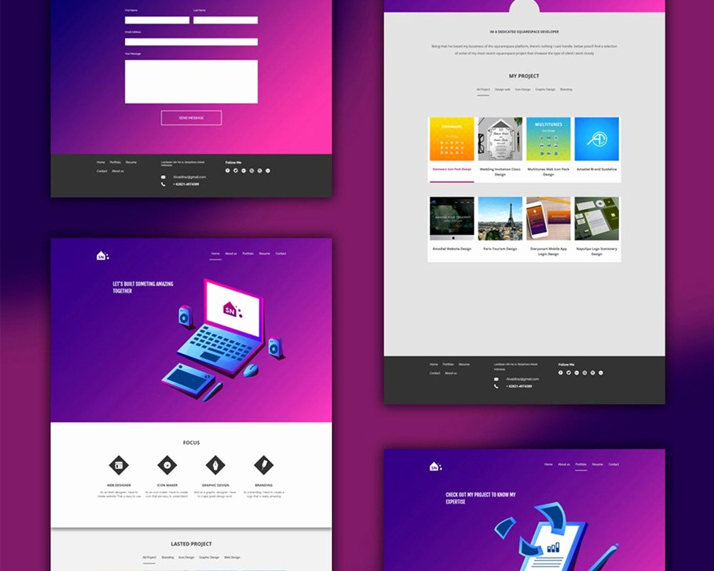 Free Portfolio Website Templates New Free Portfolio Website Templates Psd Download Psd