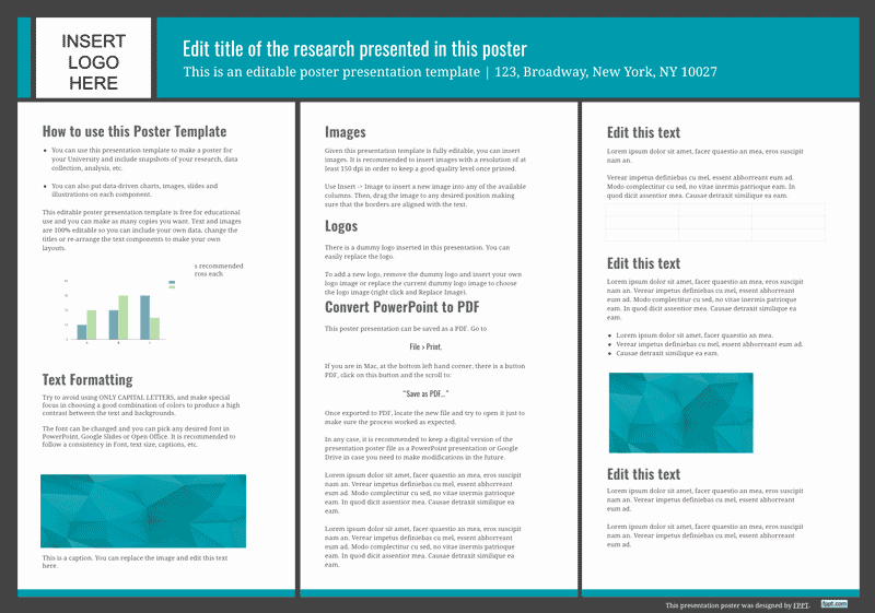 Free Powerpoint Poster Templates Beautiful Presentation Poster Templates Free Powerpoint Templates