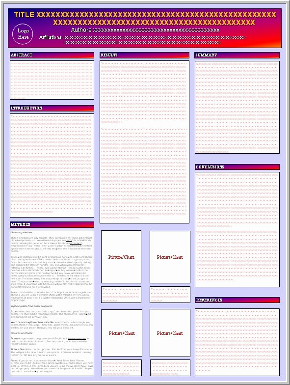 Free Powerpoint Poster Templates New Blank Poster Presentation Template
