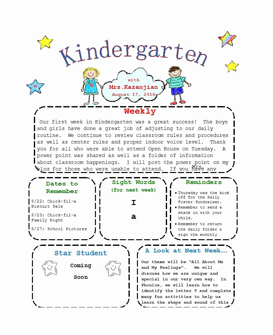 Free Preschool Newsletter Templates Beautiful 50 Creative Preschool Newsletter Templates Tips