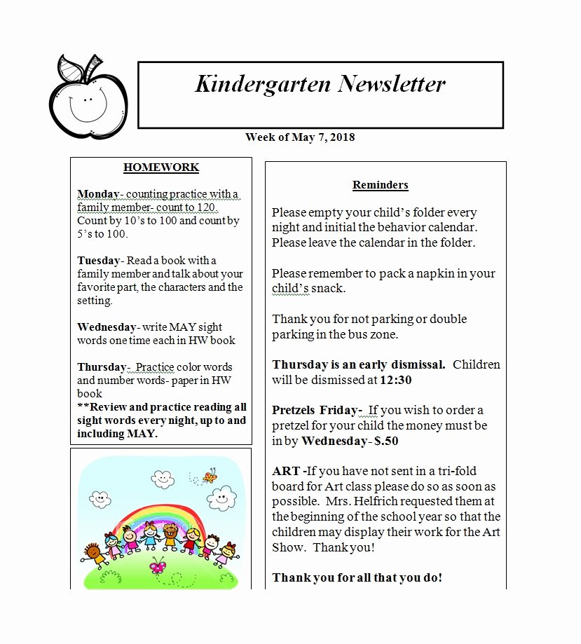 Free Preschool Newsletter Templates Best Of 50 Creative Preschool Newsletter Templates Tips