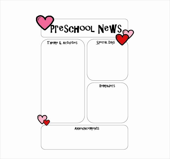 Free Preschool Newsletter Templates Inspirational 10 Preschool Newsletter Templates – Free Sample Example