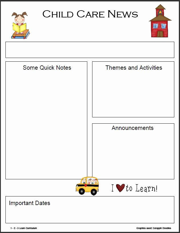 Free Preschool Newsletter Templates Inspirational Childcare Newsletter Templates Free Downlod Google