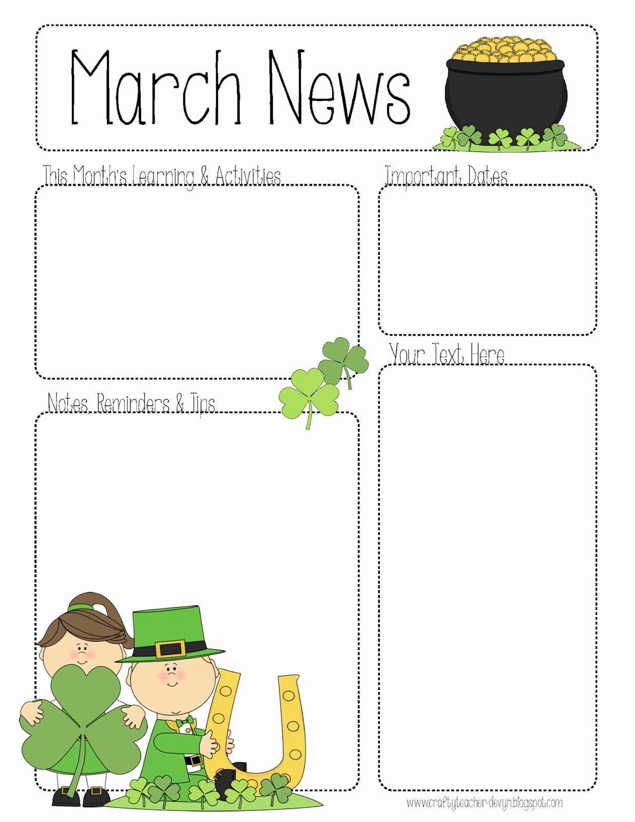 Free Preschool Newsletter Templates Lovely March Newsletter
