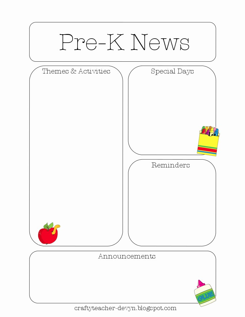 Free Preschool Newsletter Templates Lovely Newsletter Templates