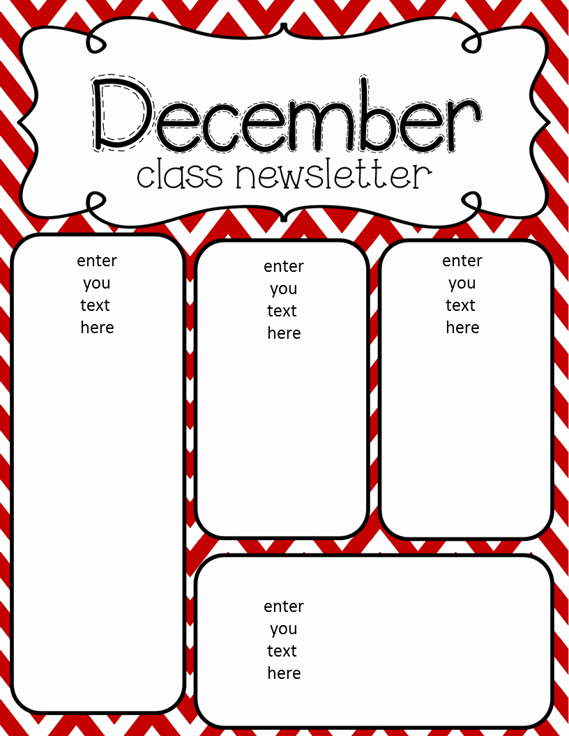 Free Preschool Newsletter Templates New Simply Delightful In 2nd Grade December Newsletter Freebie