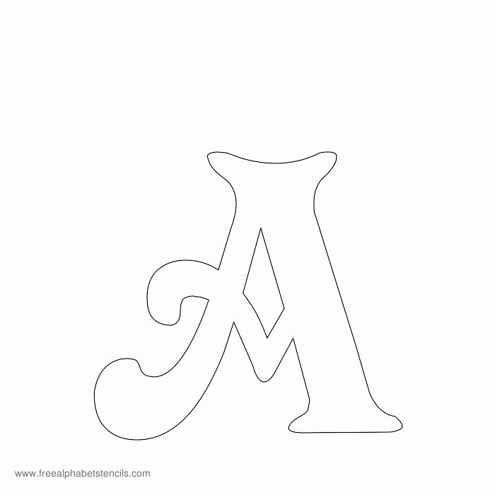 Free Printable Alphabet Stencils Awesome Free Printable Stencils for Alphabet Letters Numbers