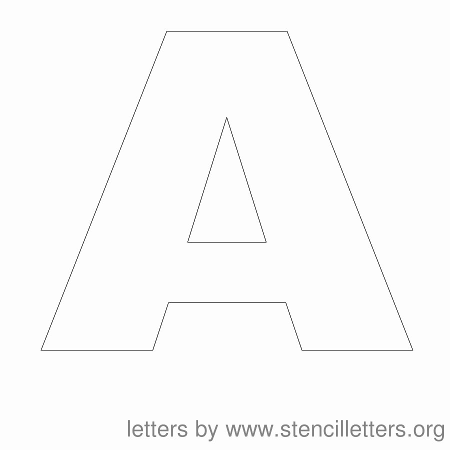 Free Printable Alphabet Stencils Awesome Stencil Letters Free Printable Stencil Letters Fonts
