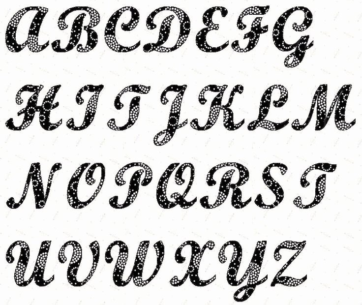Free Printable Alphabet Stencils Beautiful Alphabet Script 4 Inch Stencil