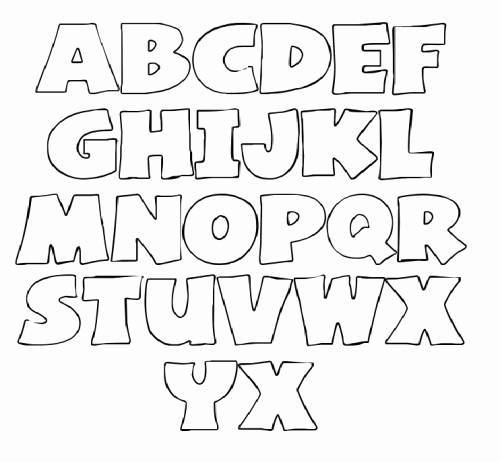 Free Printable Alphabet Stencils Beautiful Letters Stencil for Coloring Make It