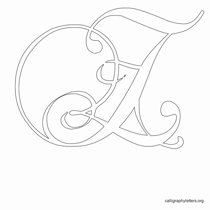 Free Printable Alphabet Stencils Beautiful Printable Calligraphy Letter Stencils