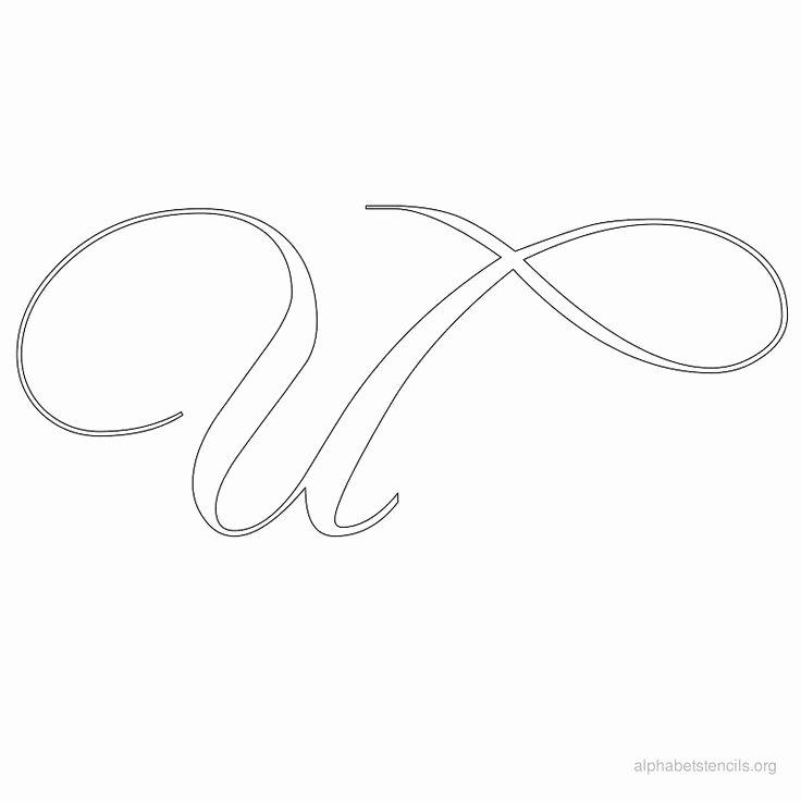 Free Printable Alphabet Stencils Best Of Print Free Alphabet Stencils Calligraphy U