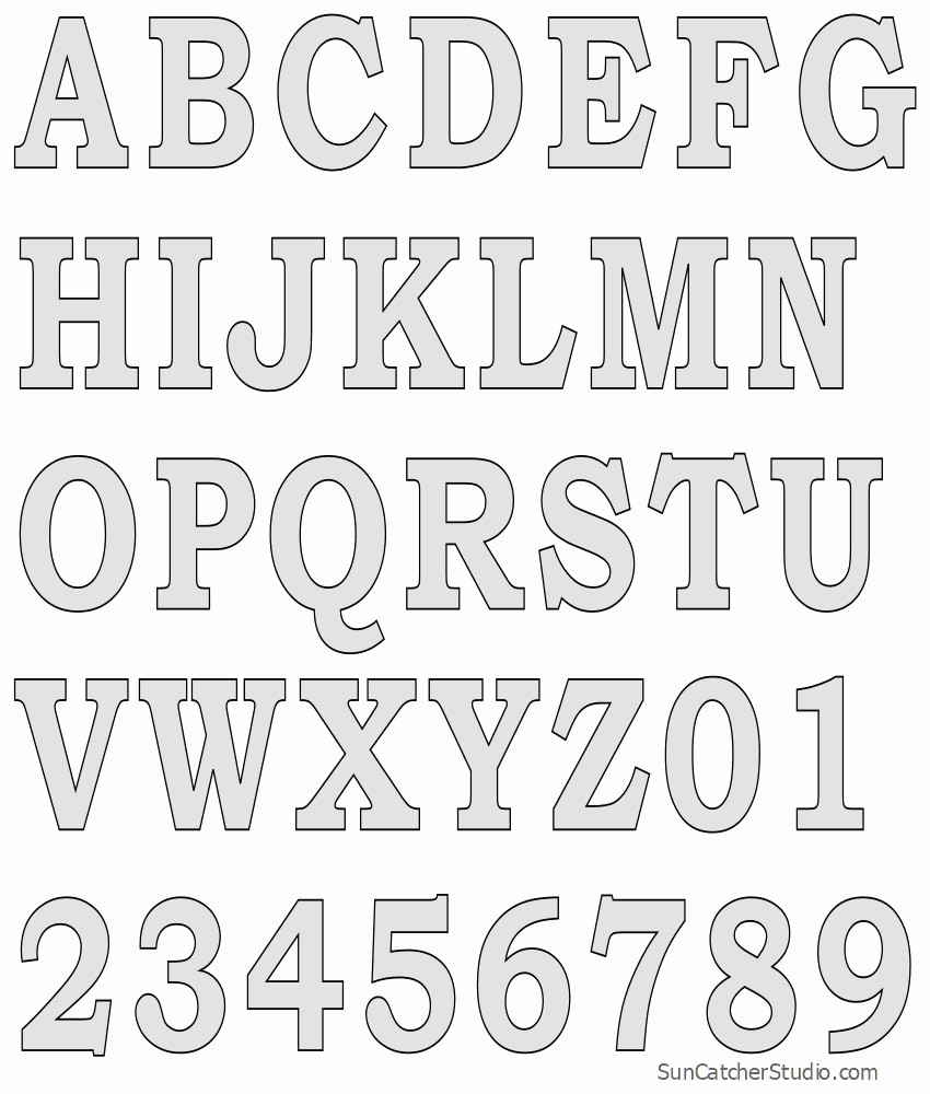 Free Printable Alphabet Stencils Elegant Tall Block Serif Printable Letter Stencils Number and