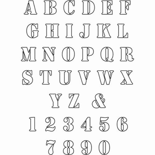 Free Printable Alphabet Stencils Lovely Free Alphabet Letter Stencils to Print 3 Gianfreda