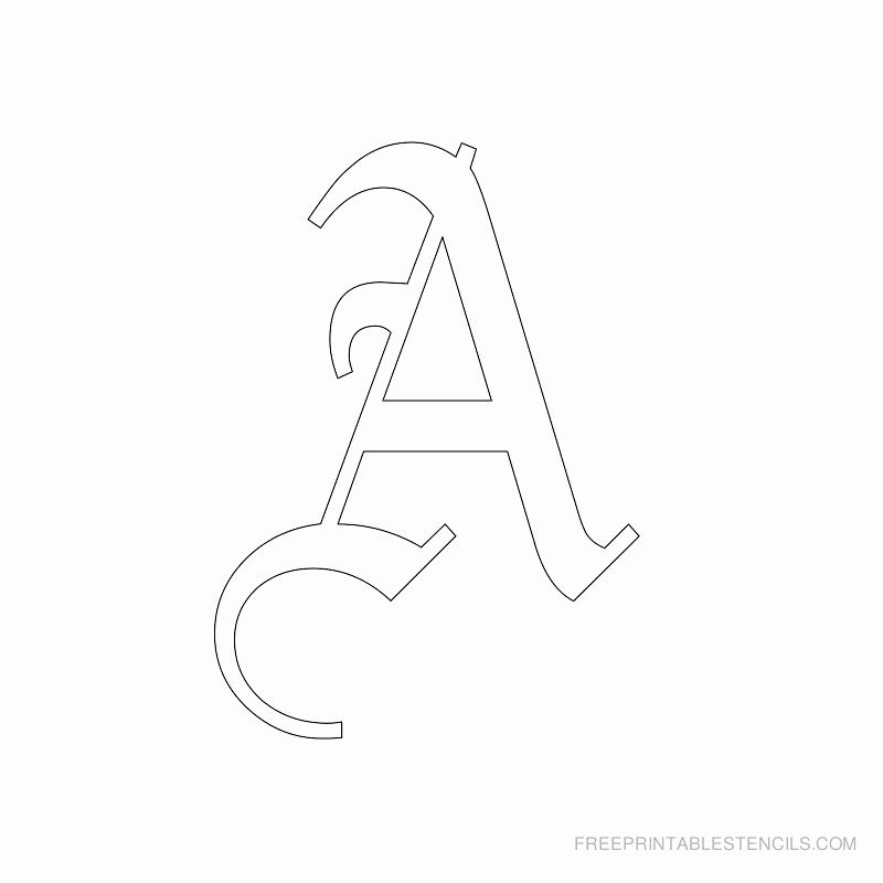 Free Printable Alphabet Stencils Lovely Printable Old English Letter Stencils