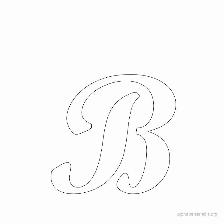 Free Printable Alphabet Stencils New Print Free Alphabet Stencils Cursive B Cj