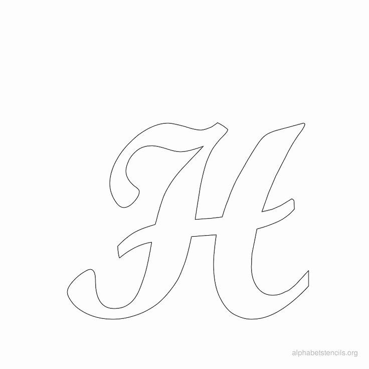 Free Printable Alphabet Stencils New Print Free Alphabet Stencils Cursive H