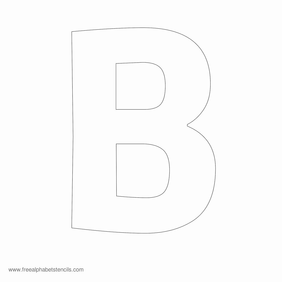 Free Printable Alphabet Stencils Templates Beautiful Alphabet Stencil B Mrs Claus and Santa