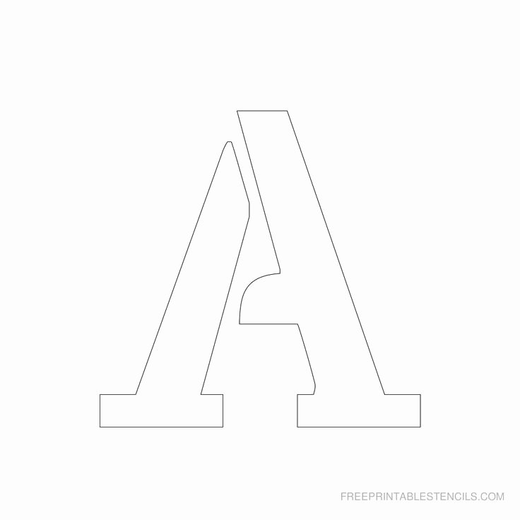 Free Printable Alphabet Stencils Templates Beautiful Printable 3 Inch Letter Stencil A Has Full Alphabet