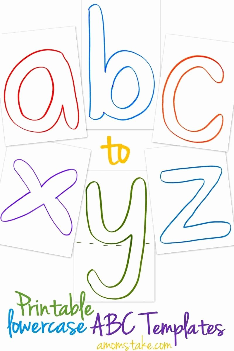 Free Printable Alphabet Stencils Templates Lovely Lowercase Abc Templates Free Printable A Mom S Take