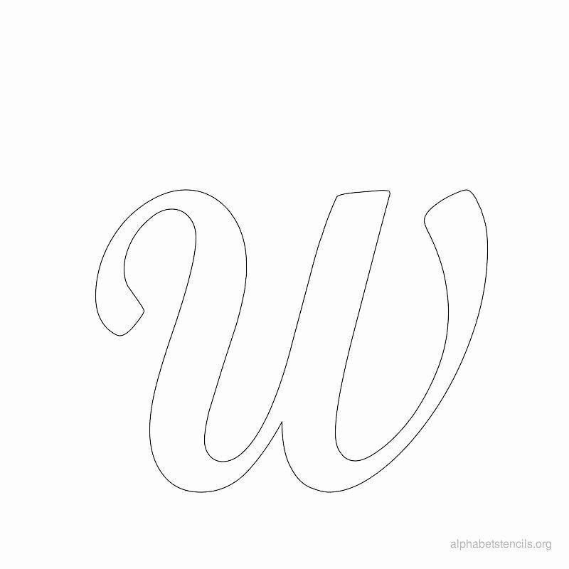 Free Printable Alphabet Stencils Templates Luxury Print Free Alphabet Stencils Cursive W
