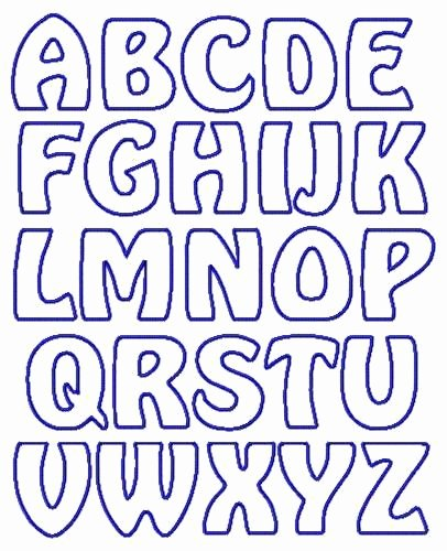 Free Printable Alphabet Stencils Templates New Applique Letter Templates Free Google Search