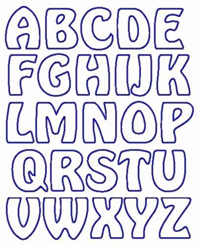 Free Printable Alphabet Stencils Templates New Applique Letter Templates Free Google Search