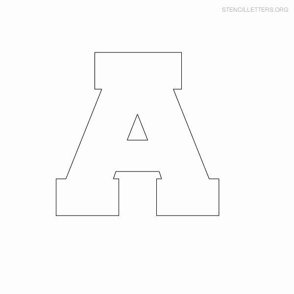 Free Printable Alphabet Stencils Templates New Free Printable Block Letter Stencils