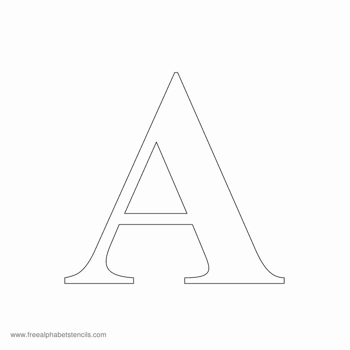 Free Printable Alphabet Stencils Templates Unique Greek Alphabet Stencils