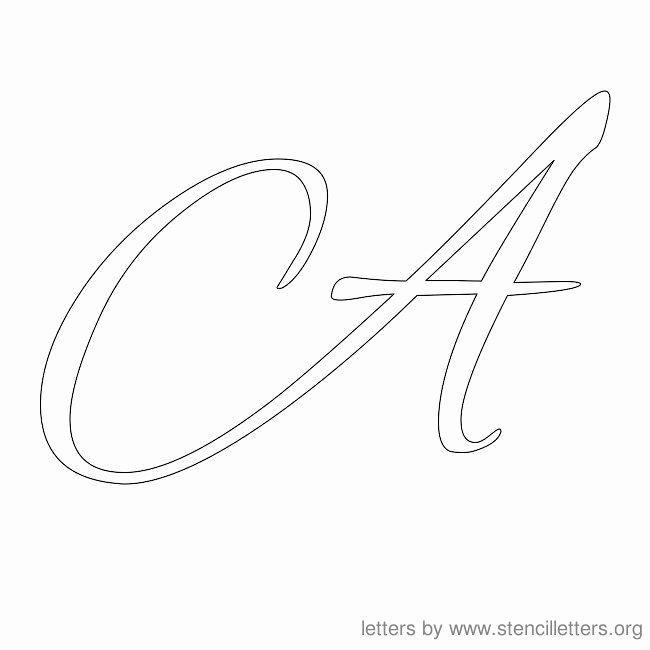 Free Printable Alphabet Stencils Templates Unique Letter Stencils Cursive Stencil Letter A