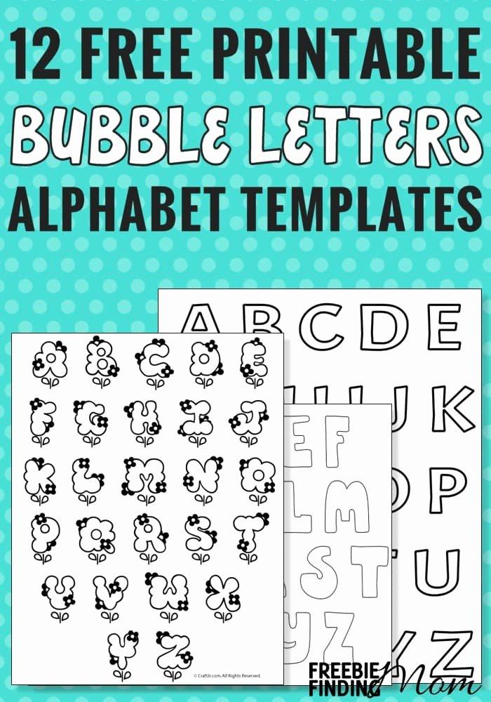 Free Printable Alphabet Templates Awesome 12 Free Printable Bubble Letters Alphabet Templates