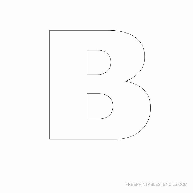 Free Printable Alphabet Templates Unique Big Letter Printable Stencils A to Z