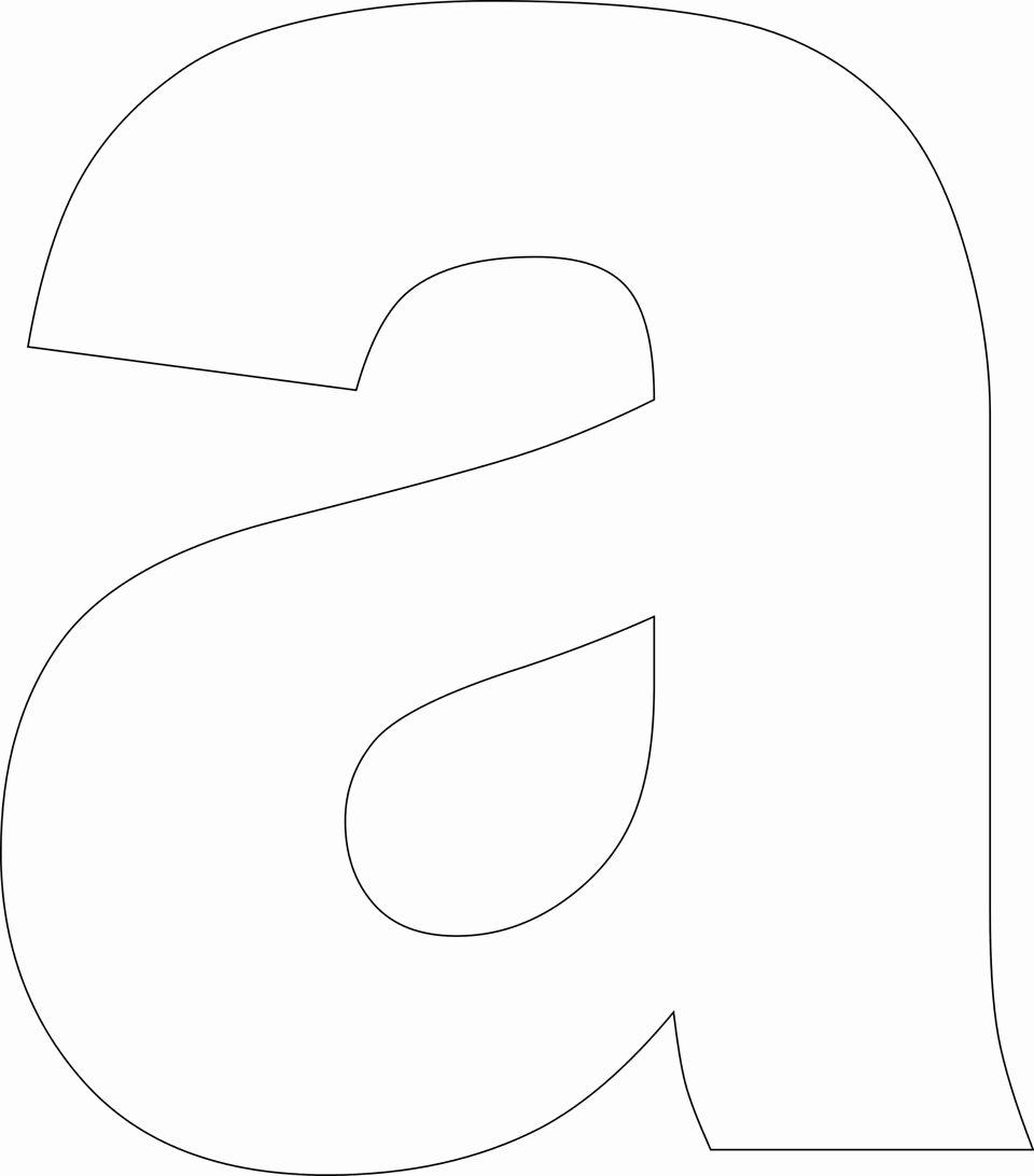 Free Printable Alphabet Templates Unique Free Printable Lower Case Alphabet Letter Template