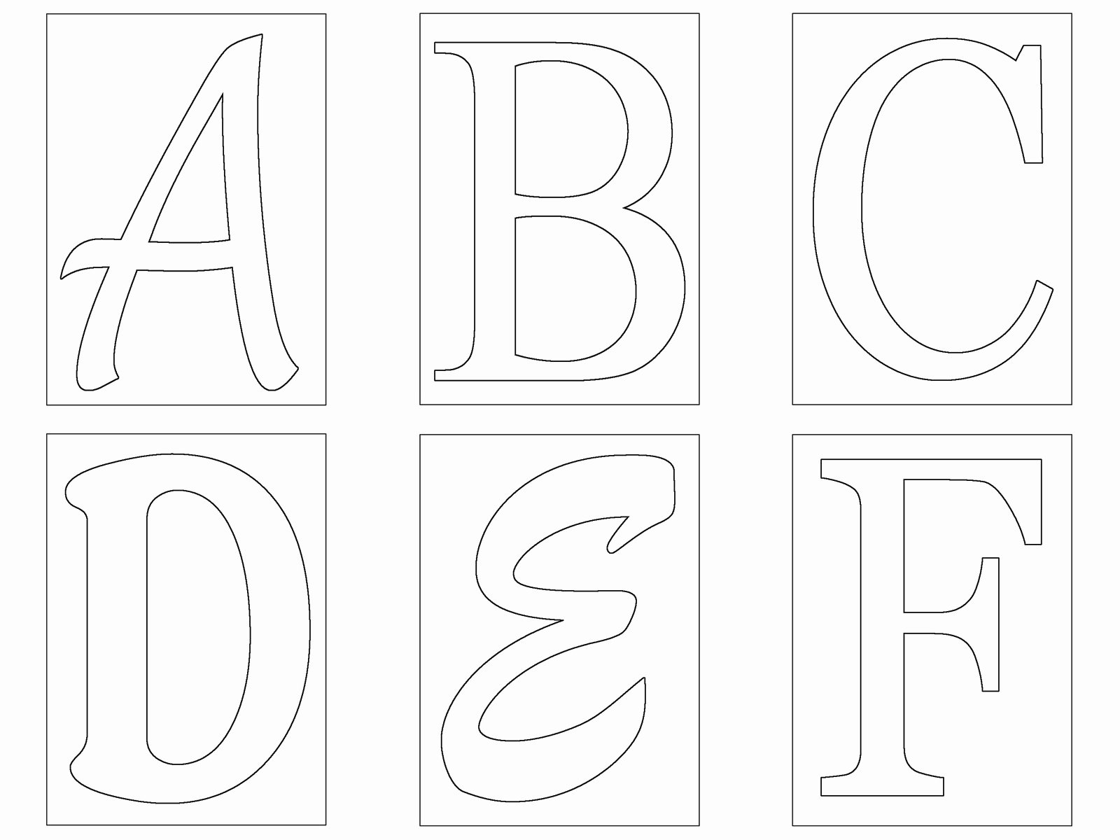 Free Printable Alphabet Templates Unique Letters Templates Cut Out – 28 – Alphabet Stencils