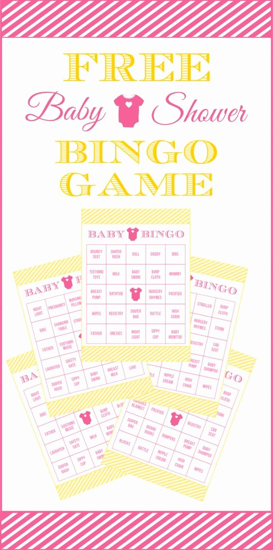 Free Printable Baby Shower Card Awesome Free Baby Shower Bingo Printable Cards for A Girl Baby