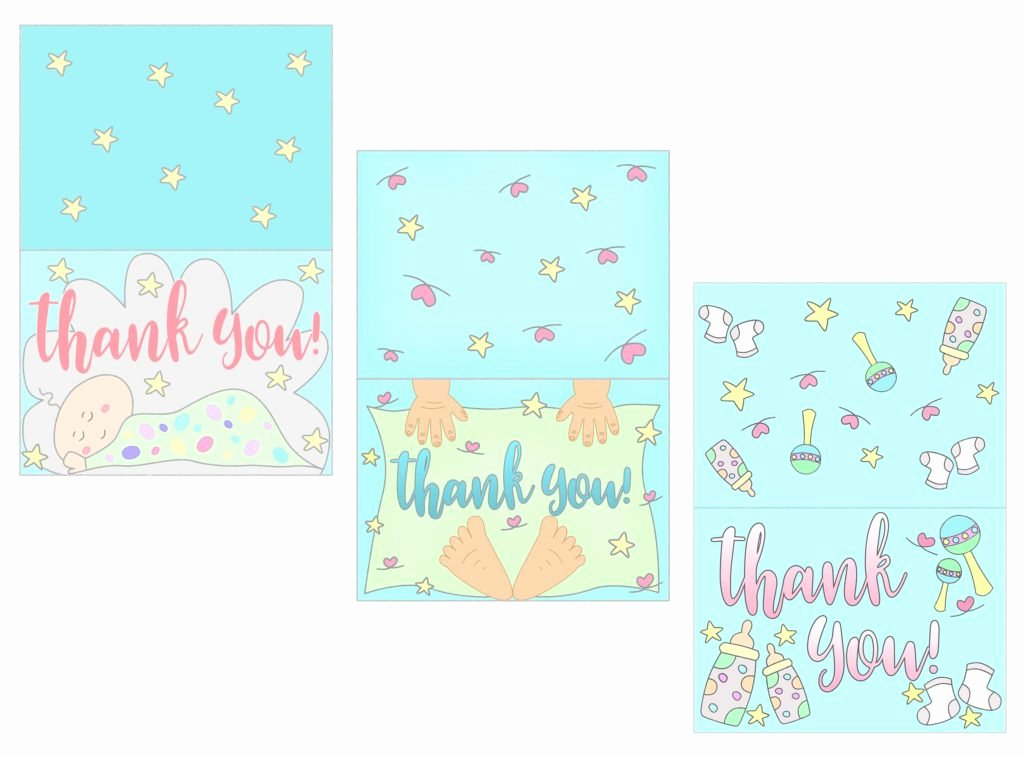 Free Printable Baby Shower Card Best Of Baby Shower Thank You Cards Free Printable