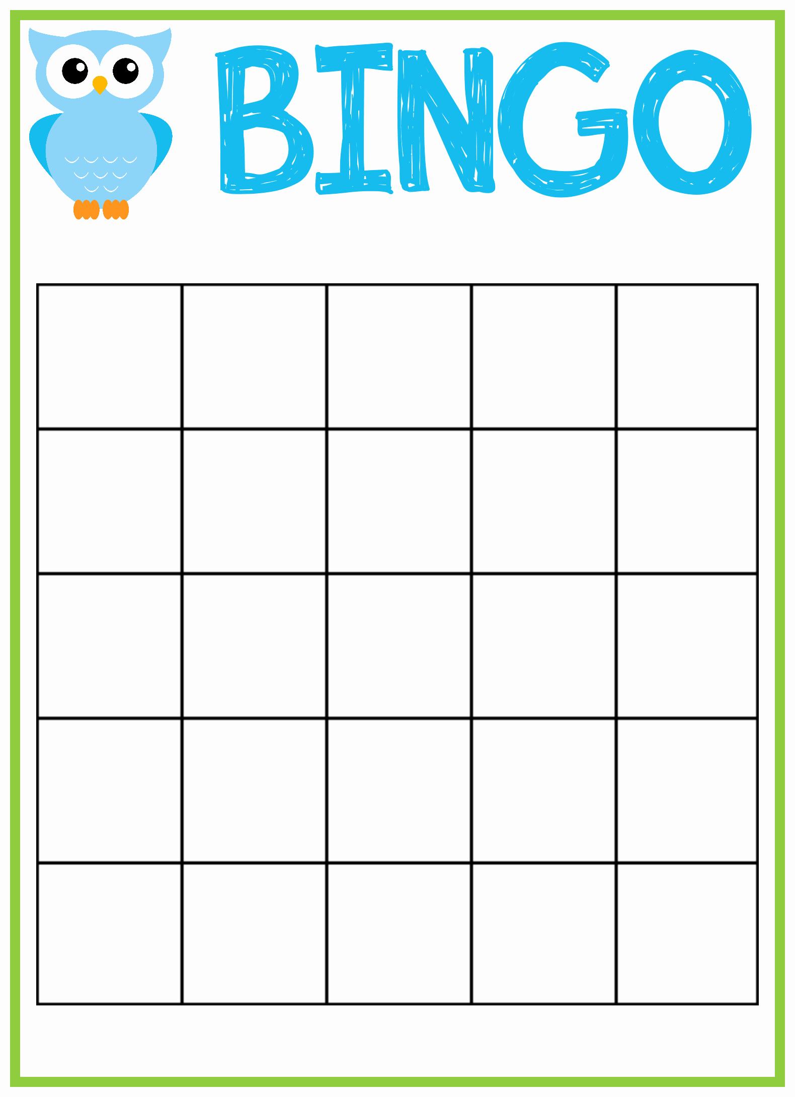 Free Printable Baby Shower Card Elegant Baby Bingo Template