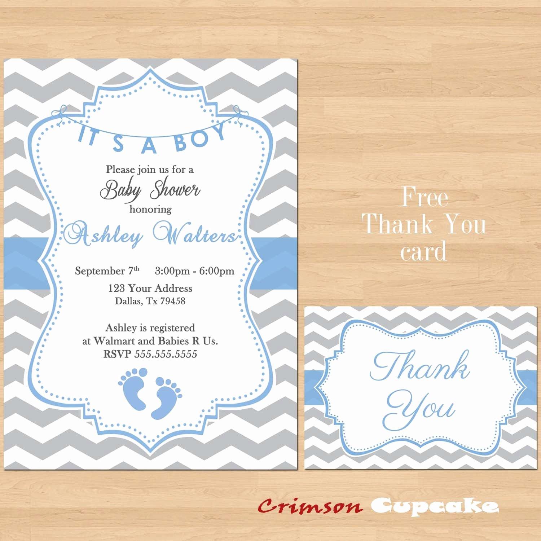 Free Printable Baby Shower Card Elegant Printable Baby Shower Blue Grey Chevron Invitations Boy Gray