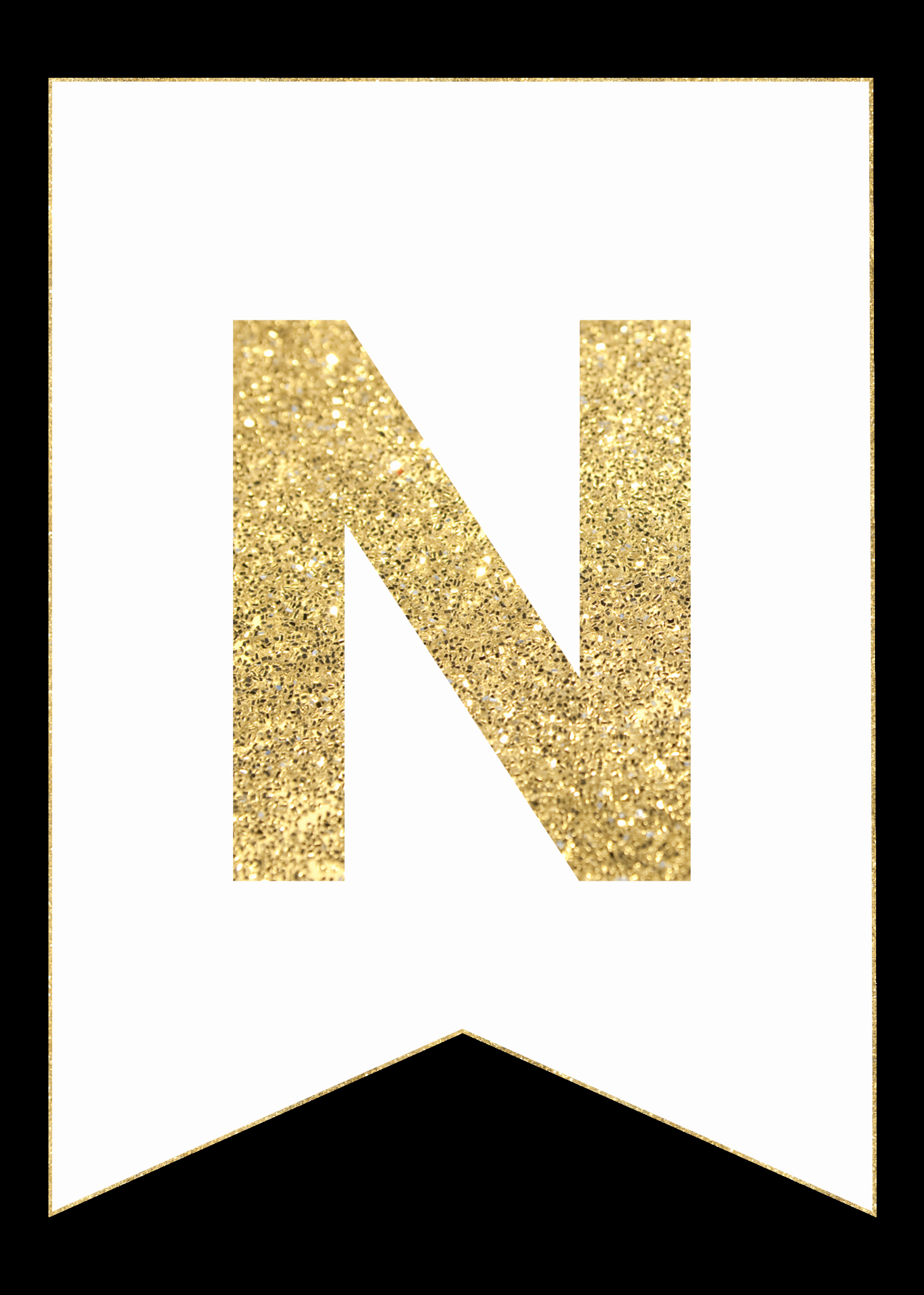 Free Printable Banner Letters Awesome Gold Free Printable Banner Letters Paper Trail Design