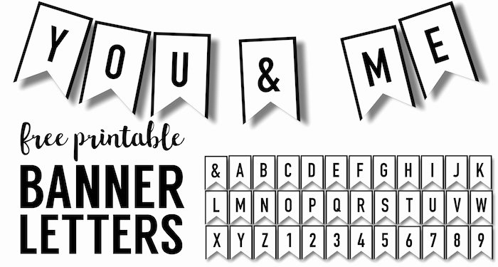Free Printable Banner Letters Elegant Banner Templates Free Printable Abc Letters Paper Trail
