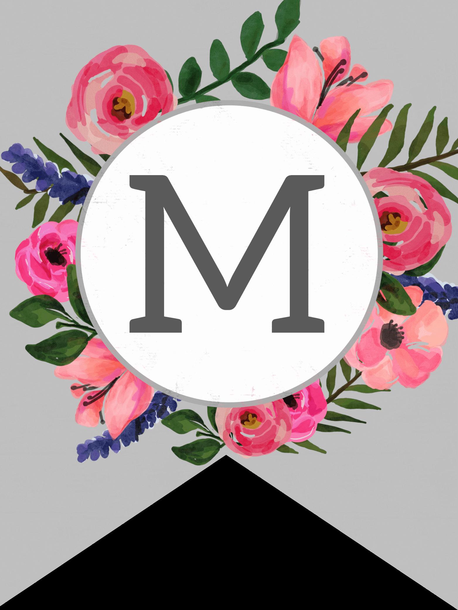 Free Printable Banner Letters Elegant Floral Alphabet Banner Letters Free Printable Paper