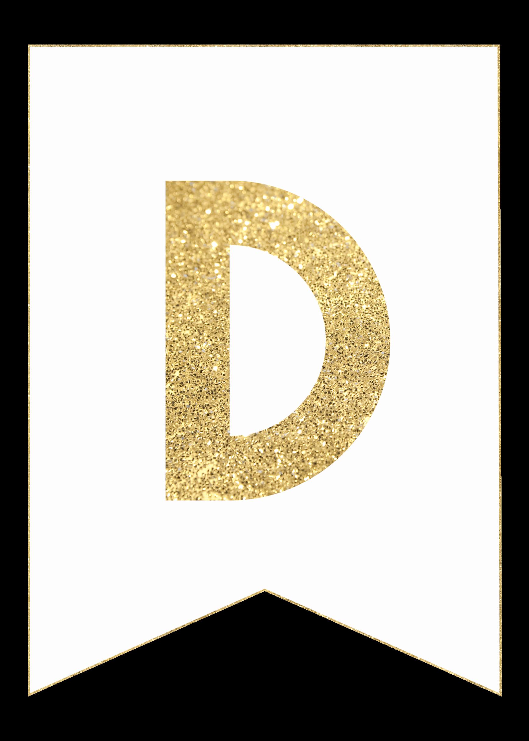 Free Printable Banner Letters Elegant Gold Free Printable Banner Letters Paper Trail Design