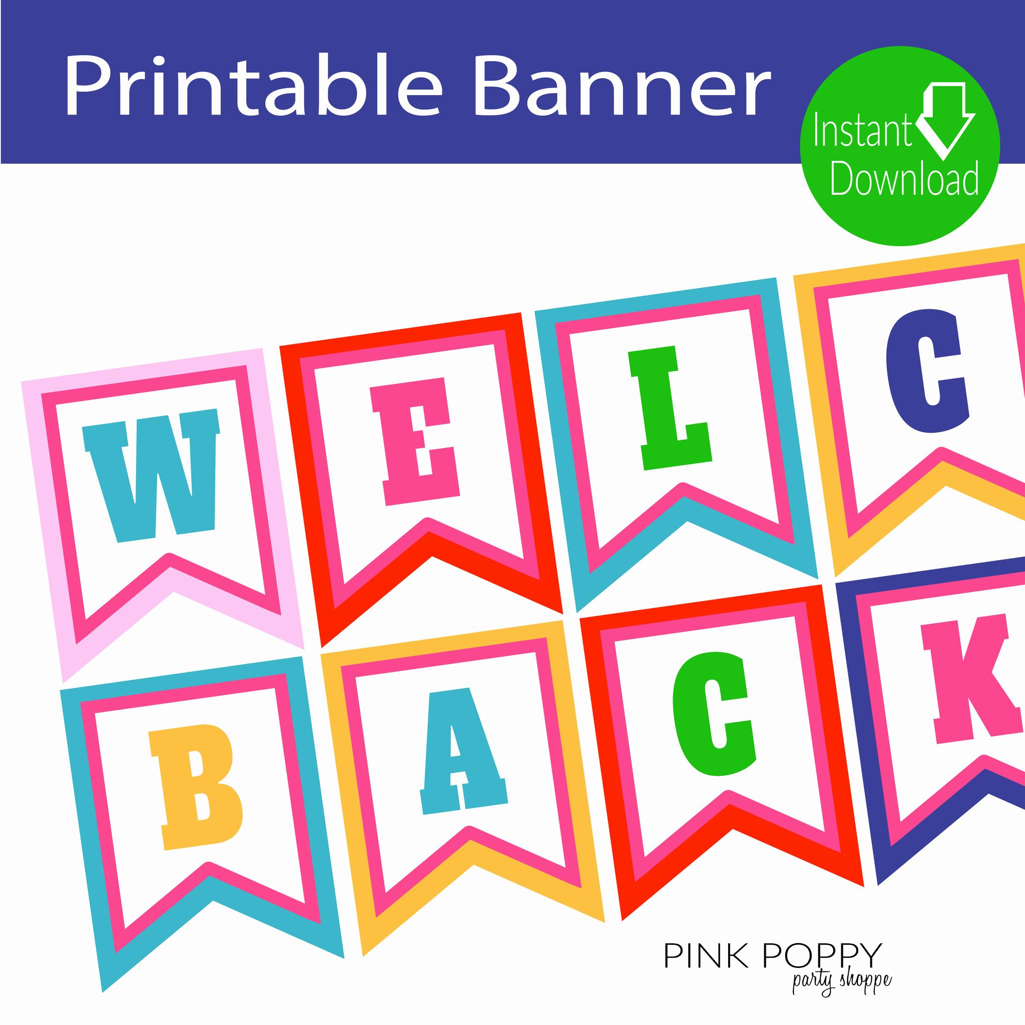 Free Printable Banner Templates Awesome Free Printables Wel E Back Banner Edukacja