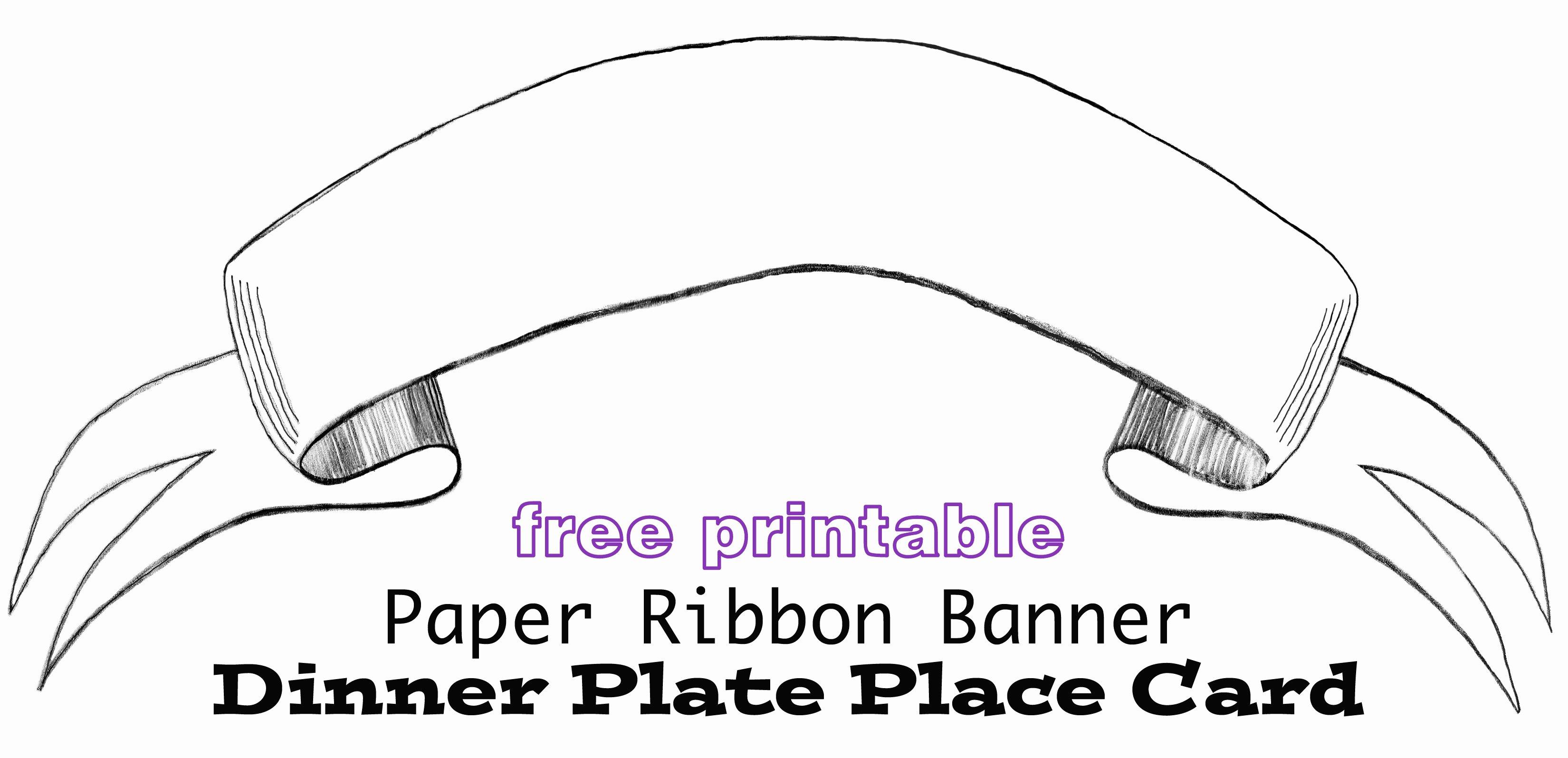 Free Printable Banner Templates Elegant Printable Paper Banner Dinner Plate Place Card