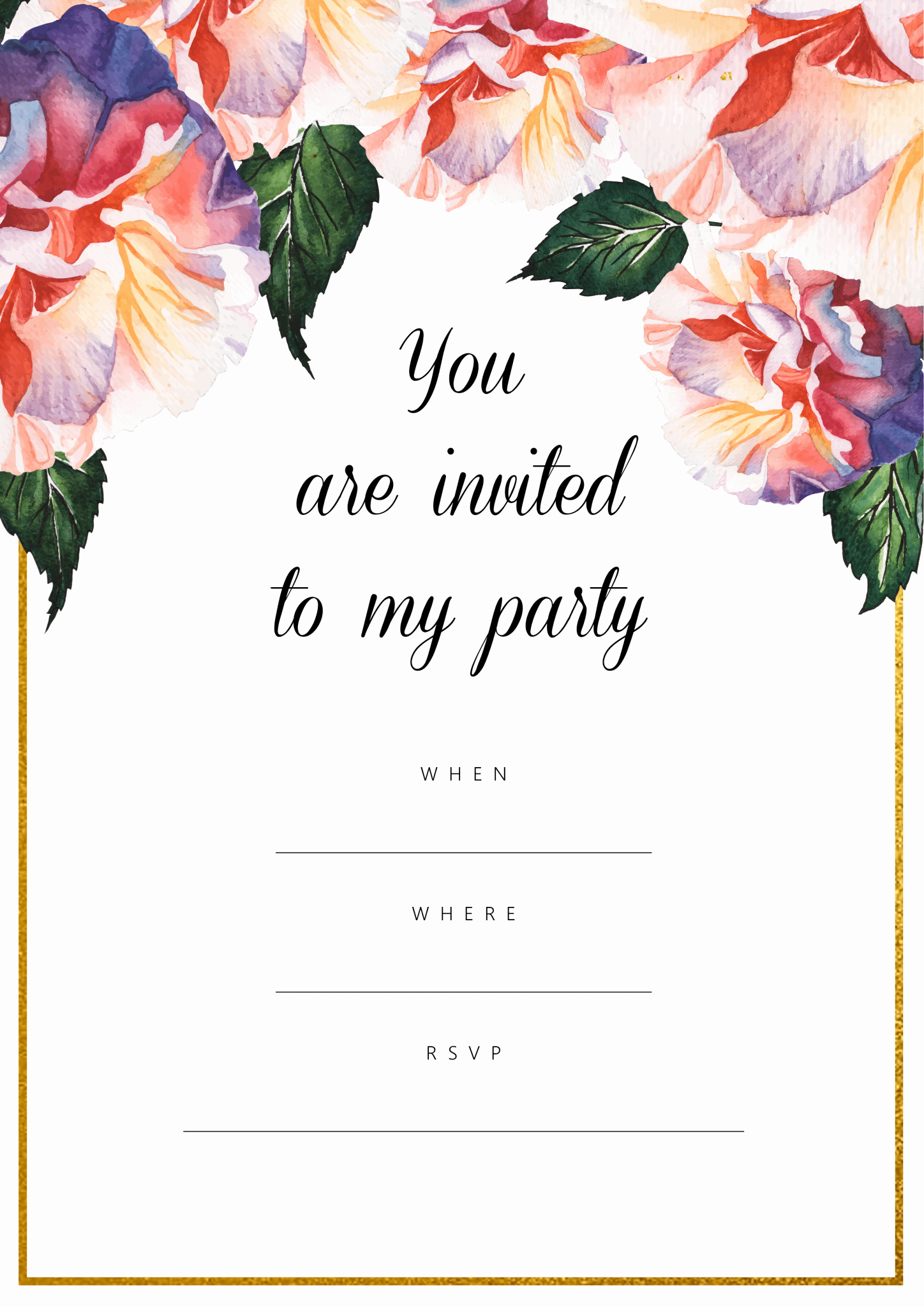 Free Printable Birthday Invitation Templates Beautiful All Free Invitations