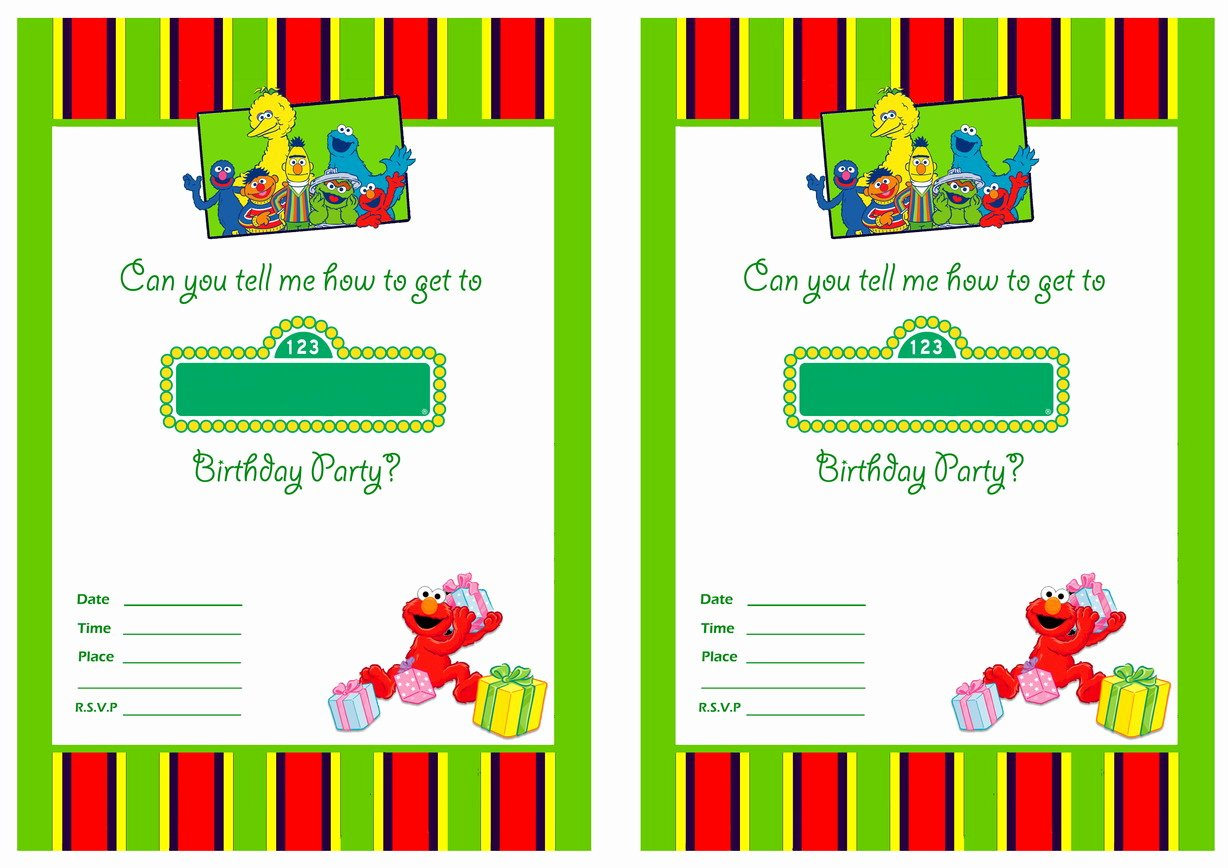 Free Printable Birthday Invitation Templates Beautiful Free Printable Sesame Street 1st Birthday Invitations
