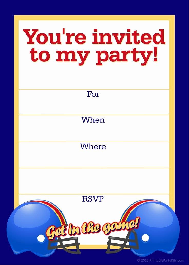 Free Printable Birthday Invitation Templates Beautiful Free Printable Sports Birthday Party Invitations Templates