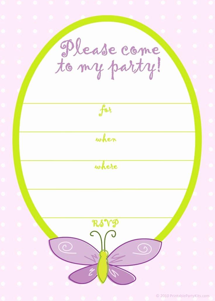 Free Printable Birthday Invitation Templates Inspirational Free Printable Girls Birthday Invitations – Free Printable