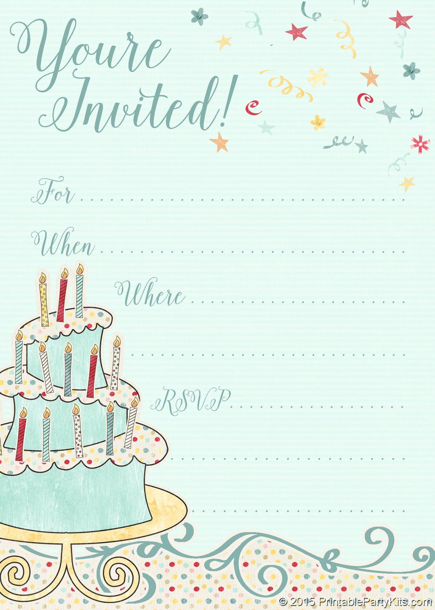 Free Printable Birthday Invitation Templates Lovely Free Printable Whimsical Birthday Party Invitation